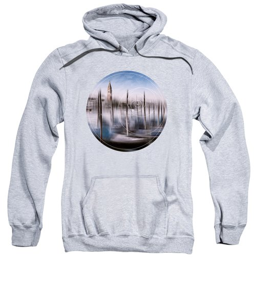 Digital-art Venice Grand Canal And St Mark's Campanile Sweatshirt