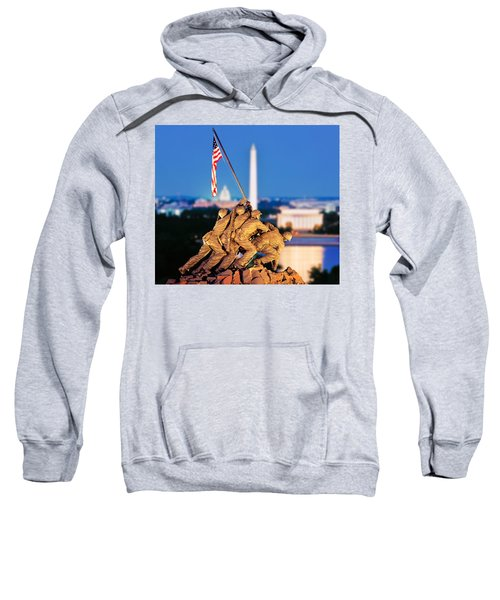 Digital Composite, Iwo Jima Memorial Sweatshirt by Panoramic Images