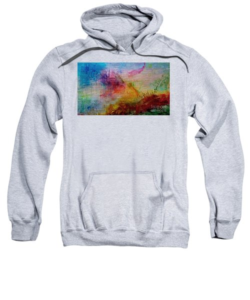 1a Abstract Expressionism Digital Painting Sweatshirt