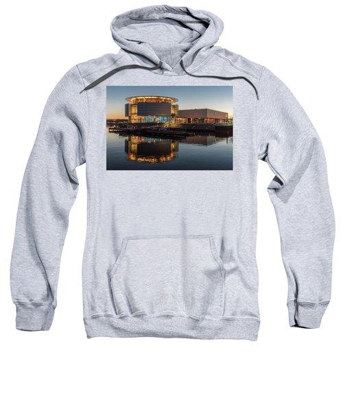 Sweatshirt featuring the photograph Discovery World by Randy Scherkenbach