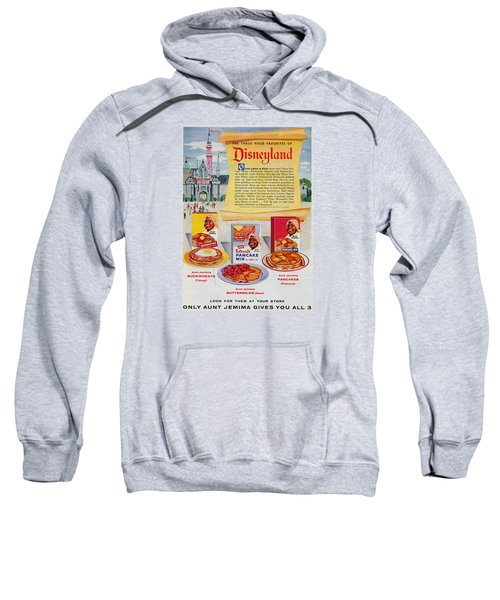 Sweatshirt featuring the digital art Disneyland And Aunt Jemima Pancakes  by ReInVintaged