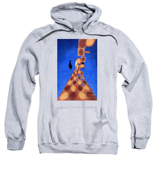 Disrupted Egg Path On Blue Sweatshirt