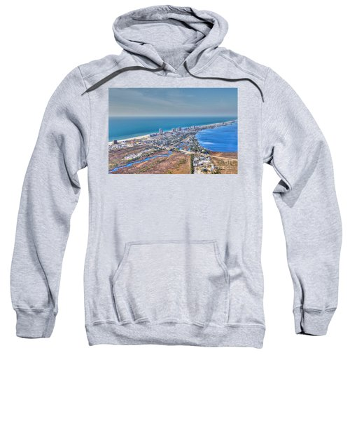 Distant Aerial View Of Gulf Shores Sweatshirt