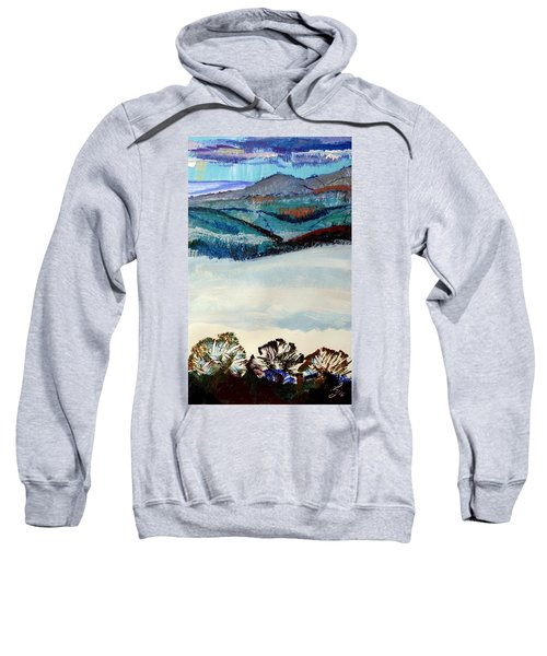 Distant Hills And Mist In The Lowlands Landscape Sweatshirt
