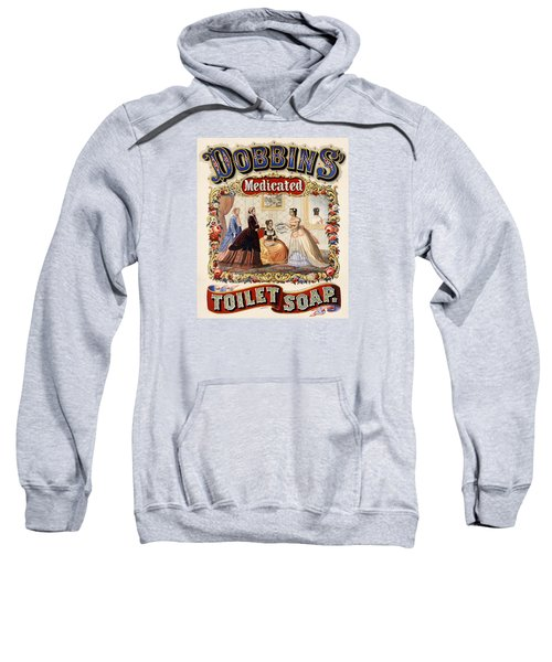 Sweatshirt featuring the digital art Dobbins Medicated Toilet Soap by ReInVintaged