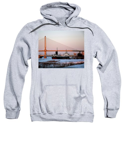 Docked Under The Glass City Skyway  Sweatshirt