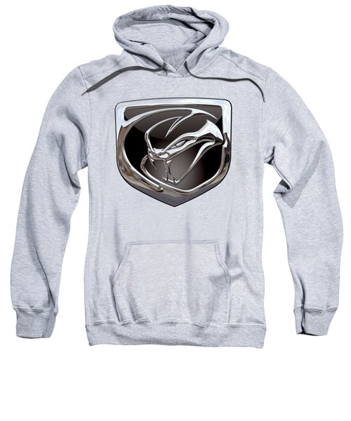 Dodge Viper 3 D  Badge Special Edition On Yellow Sweatshirt by Serge Averbukh
