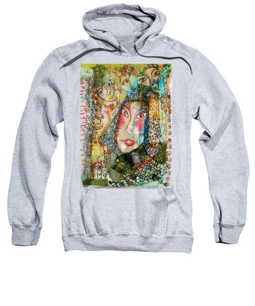 Doe Eyed Girl And Her Spirit Guides Sweatshirt