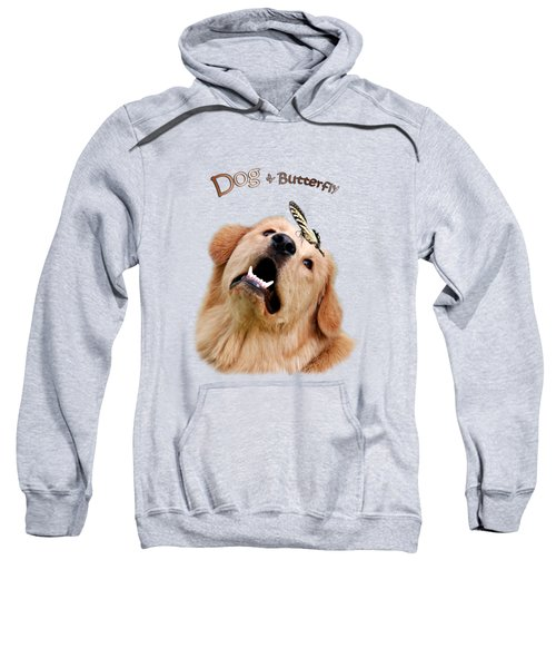 Dog And Butterfly Sweatshirt by Christina Rollo