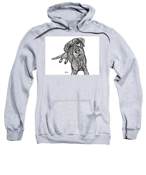 Dog Sketch In Charcoal 10 Sweatshirt