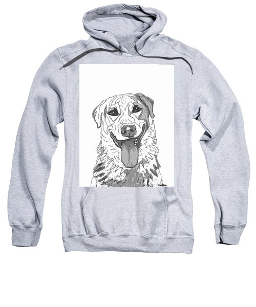 Dog Sketch In Charcoal 2 Sweatshirt