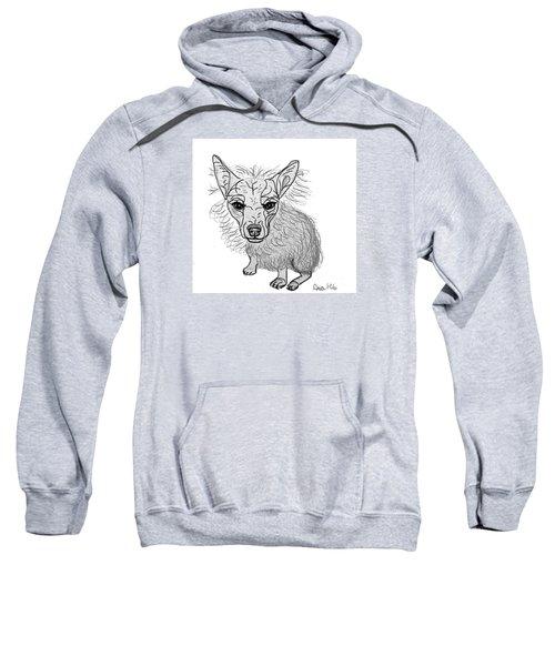 Dog Sketch In Charcoal 3 Sweatshirt