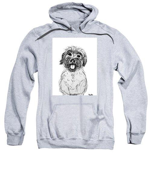 Dog Sketch In Charcoal 6 Sweatshirt