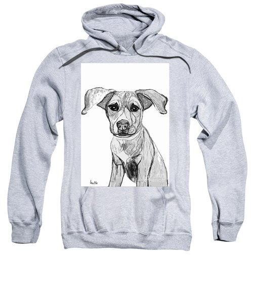 Dog Sketch In Charcoal 7 Sweatshirt