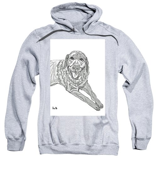 Dog Sketch In Charcoal 9 Sweatshirt