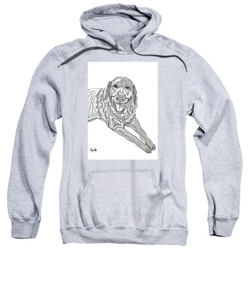 Dog Sketch In Charcoal 9 Sweatshirt