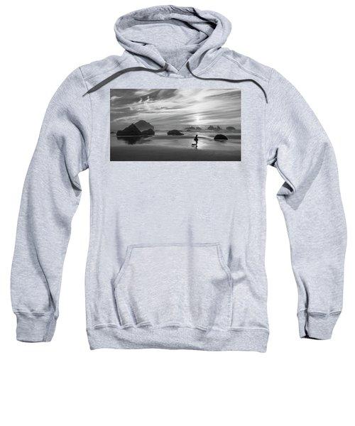 Dog Walker Bw Sweatshirt