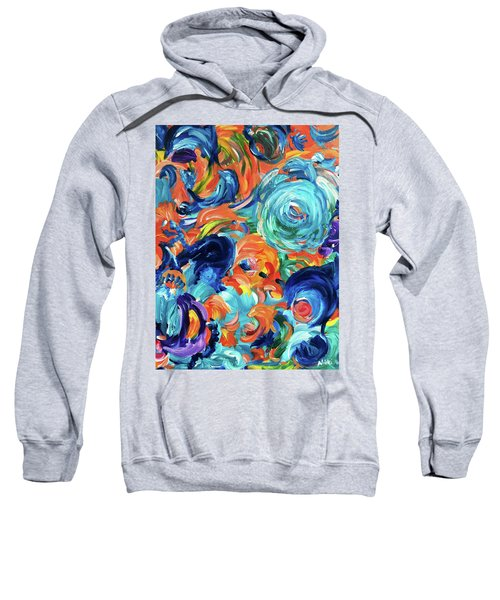 Dolphins Playing In Peonies Sweatshirt