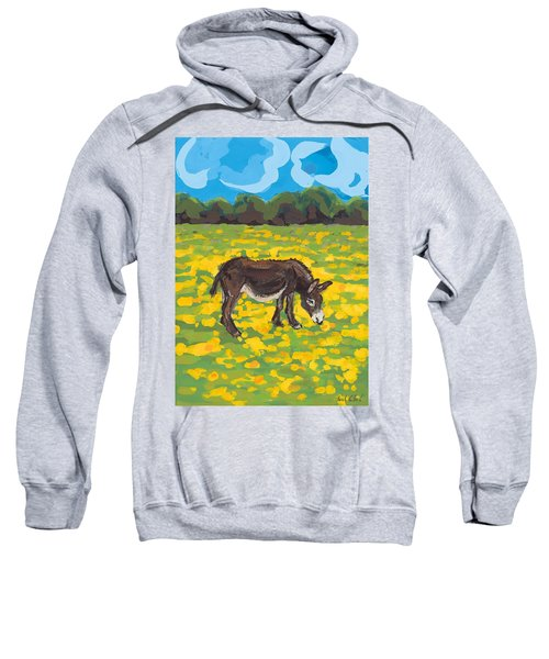 Donkey And Buttercup Field Sweatshirt by Sarah Gillard