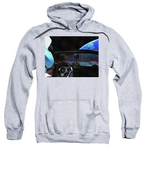 Dont Panic - Tesla In Space Sweatshirt