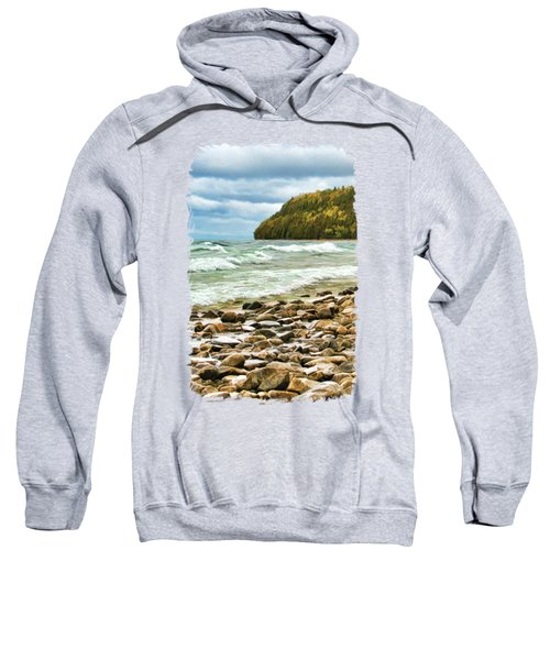 Door County Porcupine Bay Waves Sweatshirt