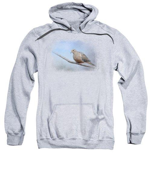 Dove In The Snow Sweatshirt by Jai Johnson