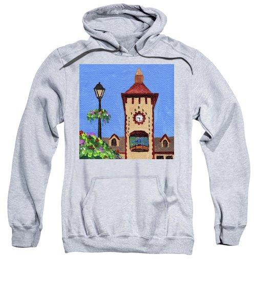 Downtown Frankenmuth Michigan Impressionistic Landscape Xxxx Sweatshirt