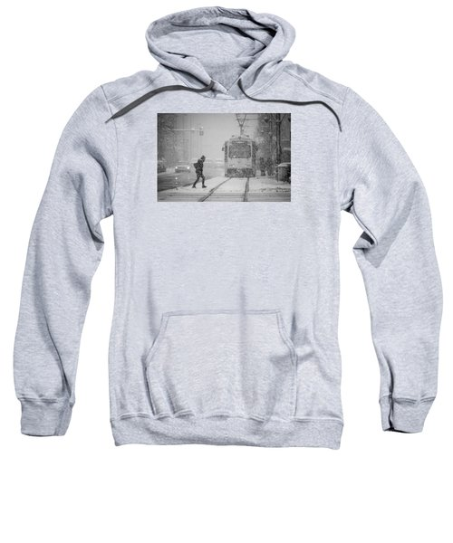 Downtown Snow Storm Sweatshirt