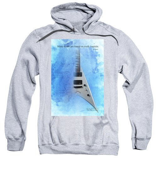 Dr House Quote And Electric Guitar On Blue Background Sweatshirt