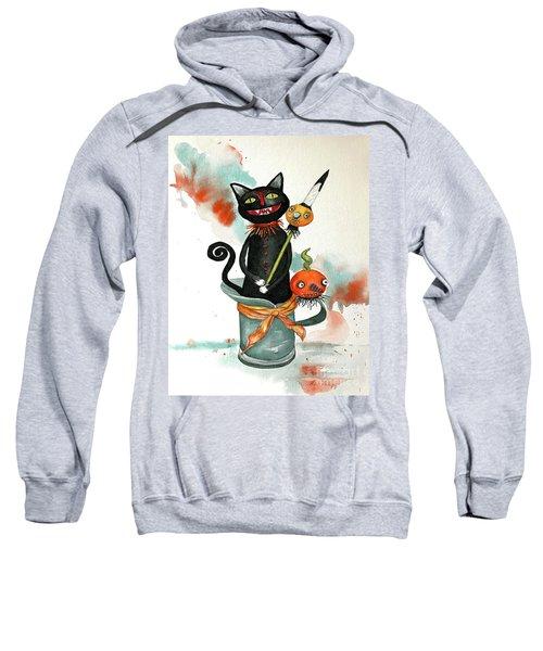 Dracula Vintage Cat Sweatshirt