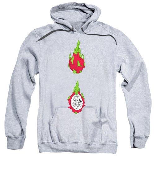 Dragon Fruit Sweatshirt by Evgenia Chuvardina