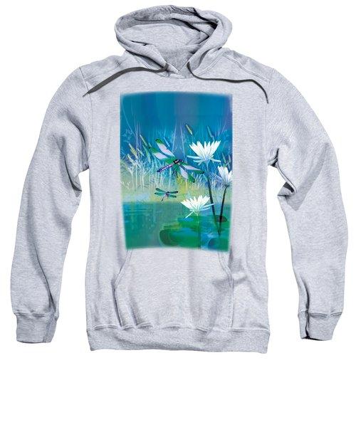 Dragonfleis On Blue Pond Sweatshirt
