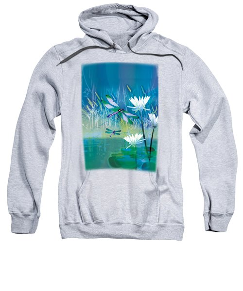 Dragonfleis On Blue Pond Sweatshirt