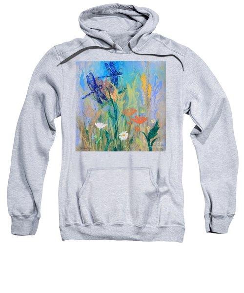Dragonflies In Wild Garden Sweatshirt