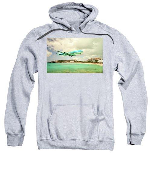 Dramatic Landing At St Maarten Sweatshirt