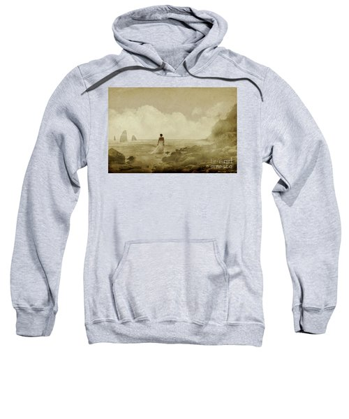 Dramatic Seascape And Woman Sweatshirt