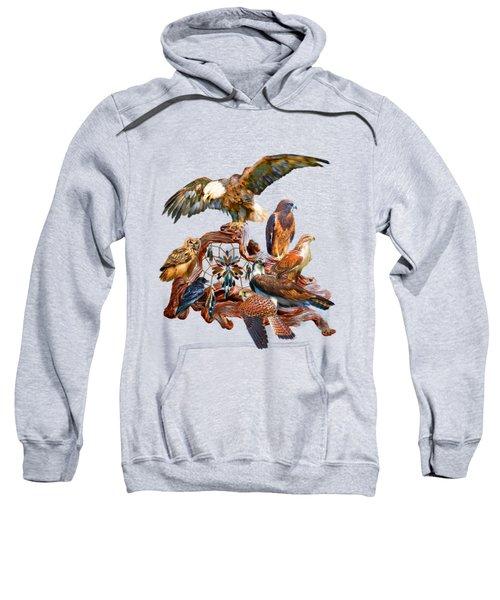Dream Catcher - Spirit Birds Sweatshirt by Carol Cavalaris