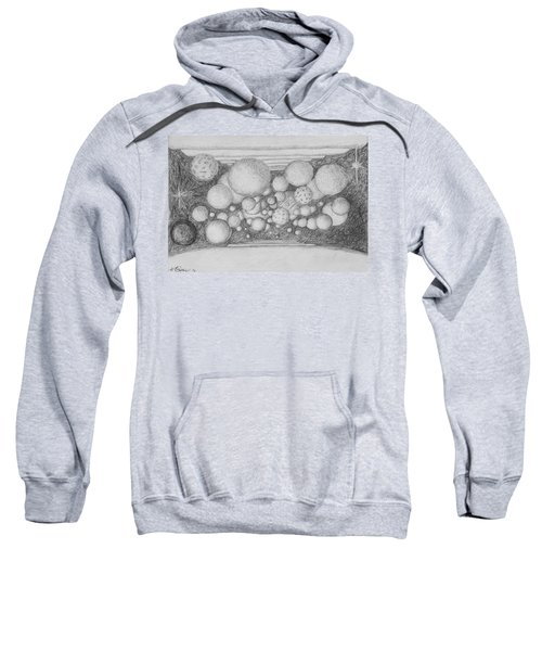 Sweatshirt featuring the drawing Dream Spirits by Charles Bates