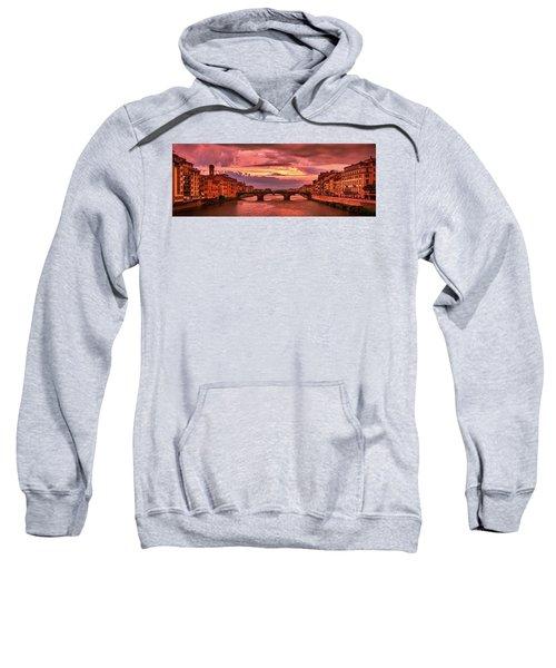 Dreamlike Sunset From Ponte Vecchio Sweatshirt