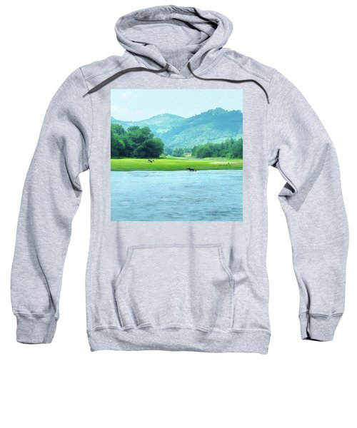 Animals In Li River Sweatshirt