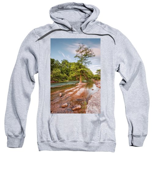Dreamy Bald Cypress At Guadalupe River - Canyon Lake Texas Hill Country Sweatshirt