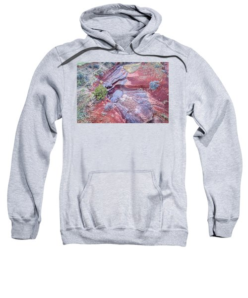 Dry Stream Canyon Areial View Sweatshirt