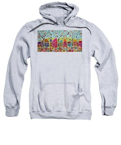 Dsc01598-swirl Tree Village Sweatshirt