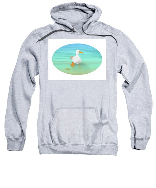 Duck Paddling At The Seaside Sweatshirt