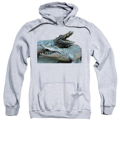 Dueling Gators Transparent For Customization Sweatshirt