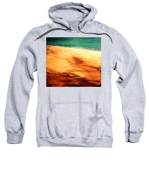 Sweatshirt featuring the painting Dune Shadows by Winsome Gunning