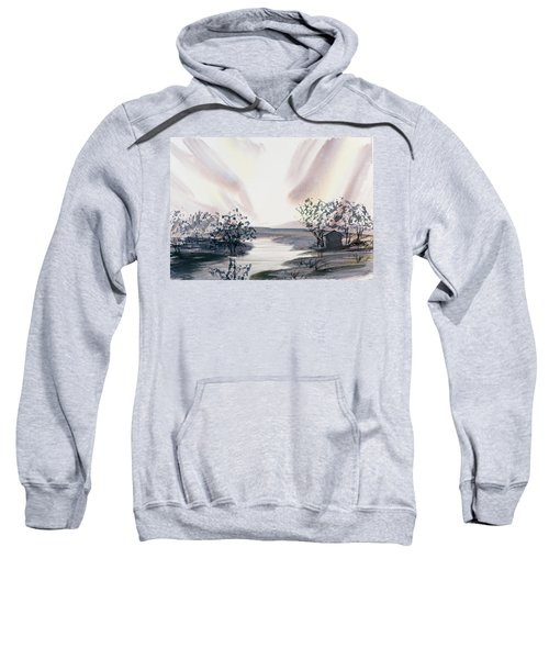 Dusk Creeping Up The River Sweatshirt