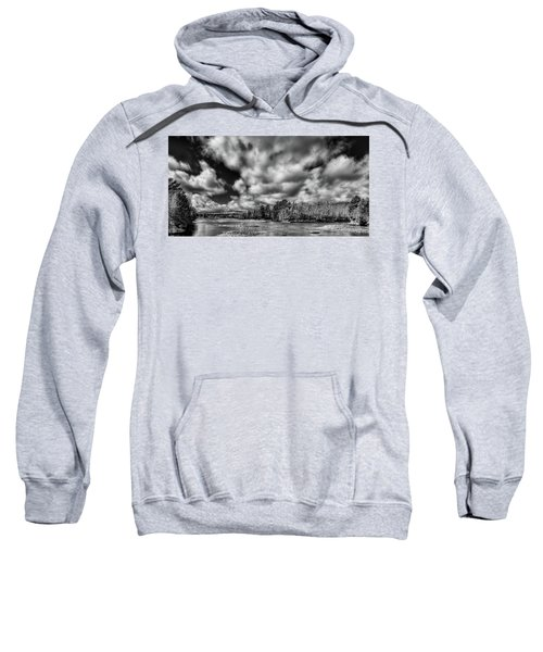 Sweatshirt featuring the photograph Dusting Of Snow On The River by David Patterson