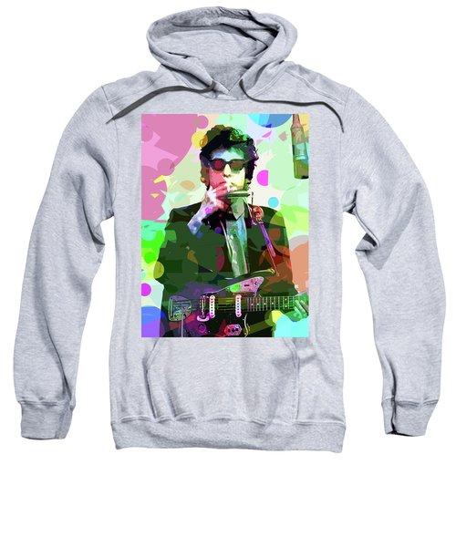 Dylan In Studio Sweatshirt by David Lloyd Glover