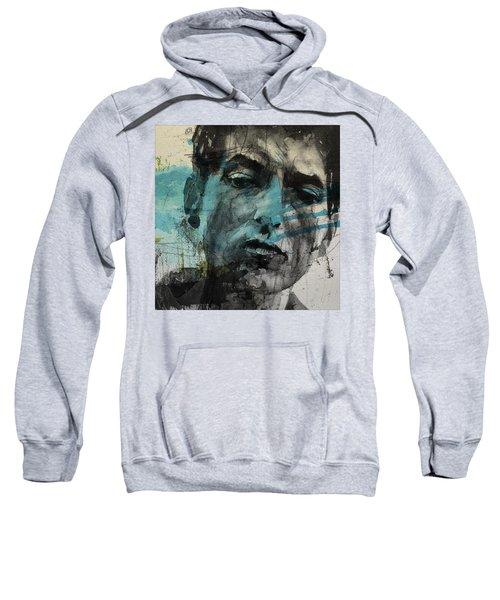 Dylan - Retro  Maggies Farm No More Sweatshirt by Paul Lovering